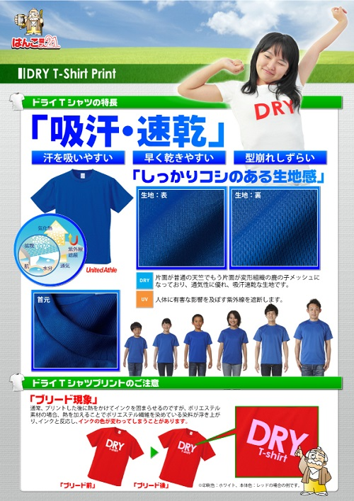 DRY Tシャツ説明